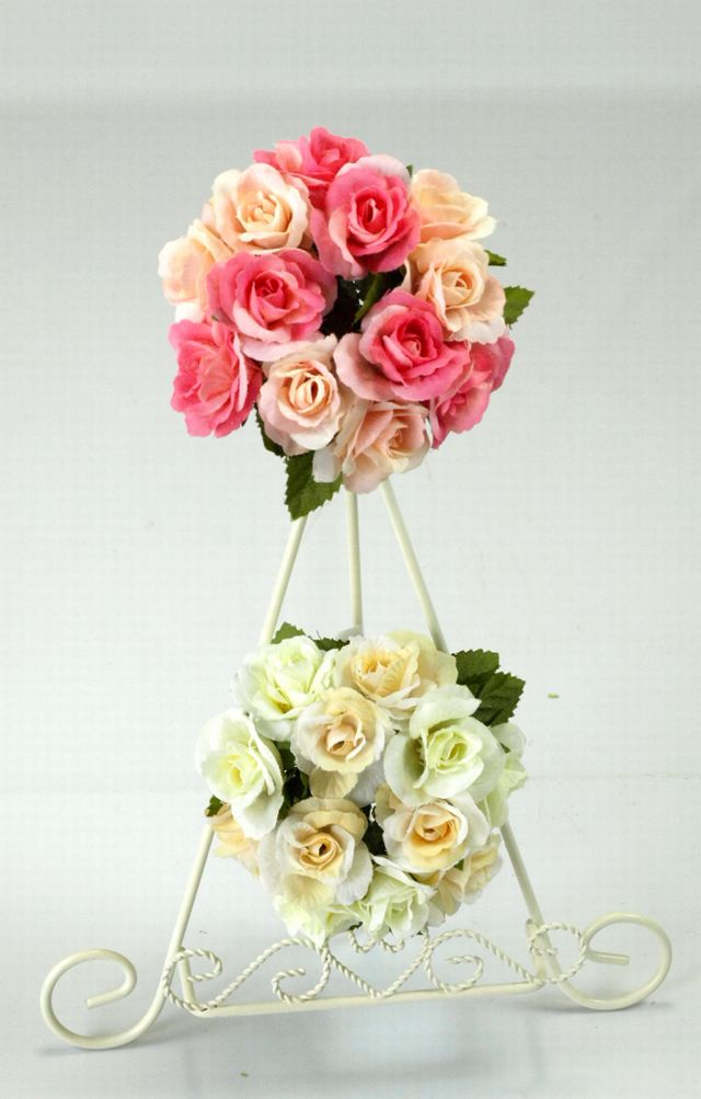 【造花リース】ミニミニ・ローズリース