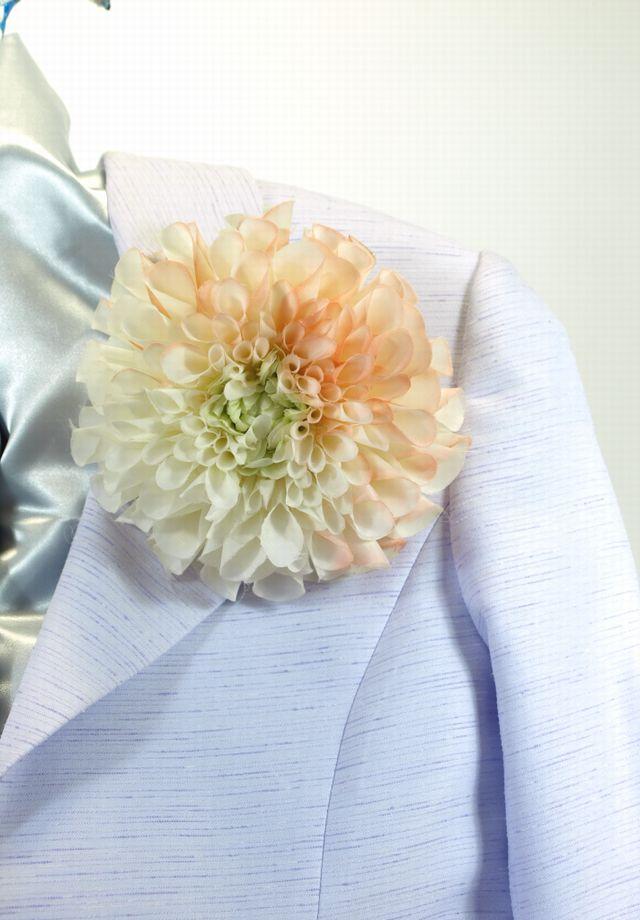 コサージュ&髪飾り(両用タイプ)(グレースダリア/ライトオレンジ)