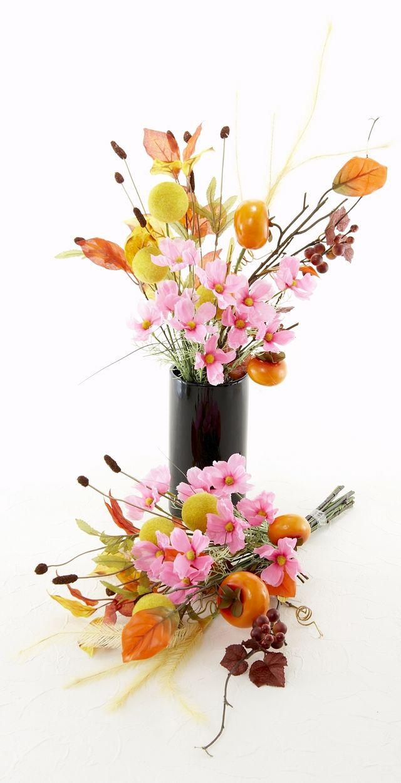 【造花仏花・供花】秋のハイセンス造花・供花D-左右1対セット
