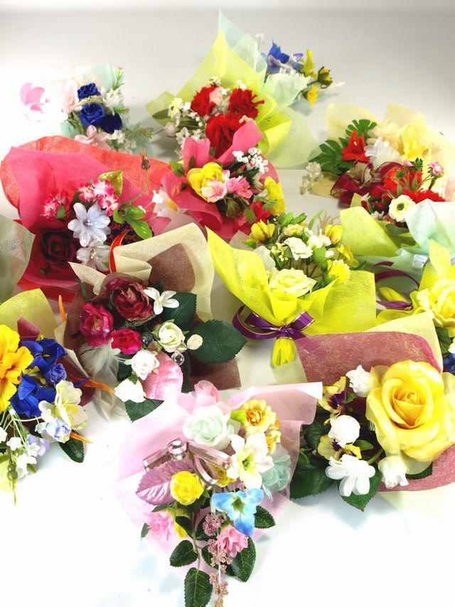 【造花ミニ花束】手のひらブーケ51
