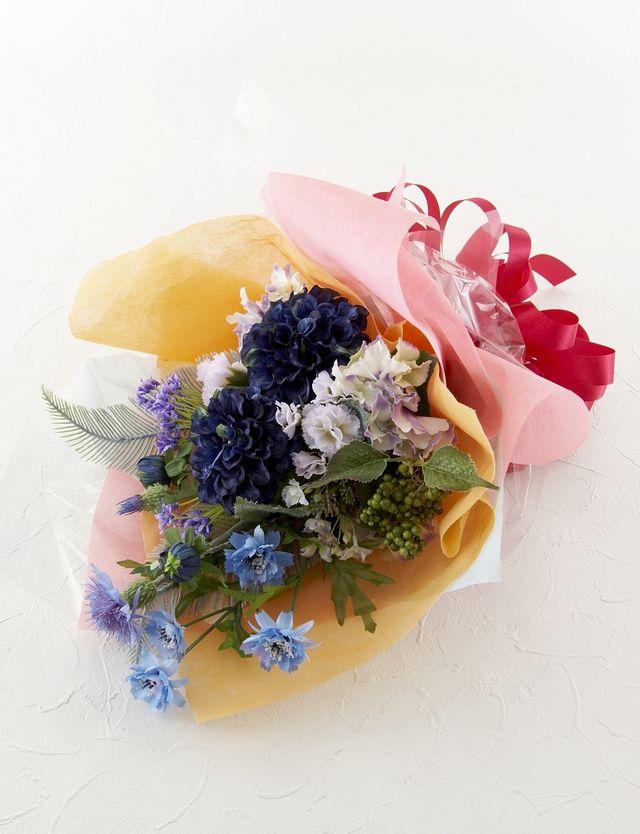 【造花 花束】爽紺花