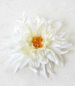 コサージュ&髪飾り(両用タイプ)(ファッションダリア/ホワイト)