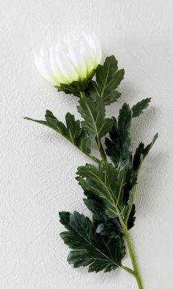 【造花・アートフラワー・シルクフラワー】菊(ホワイト)